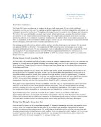 chairman s annual report template hyatt hotels corporation investor relations financial