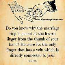 wedding quotes ring do you why the marriage ring is placed on the fourth finger