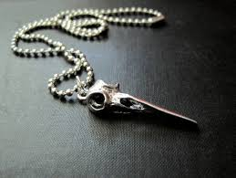 fashion skull necklace images Raven skull gothic necklace bird skull necklace vamps jewelry jpg