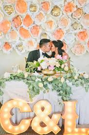 wedding backdrop paper flowers the wedding scoop