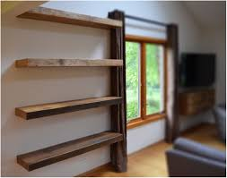 Wooden Crate Shelf Diy by Wood Box Shelf Diy Wood Shelving Up The Wall Diy Wood Shelf