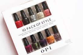 opi 10 pack of style coca cola mini nail lacquers