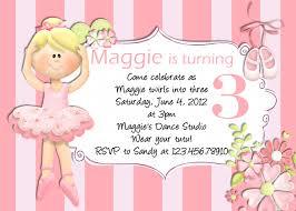 Barbie Birthday Invitation Cards Birthday Invites Simple Ballerina Birthday Invitations Designs