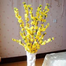 amazon com 10 bunch artificial peach blossom flower bouquet w 3