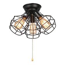 light pull string laluz wire cage ceiling lights 3 light pull string flush mount