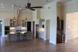 Oversized Kitchen Island Open Concept Kitchen Wood Look Ceramic Tile Flooring Custom