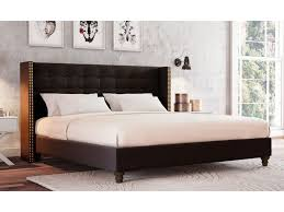 Studded Bed Frame Studded Bed Frame King Size Fabric Studded Wing Bed Ensemble