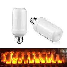 led flame effect fire light bulbs led flame effect fire bulb light 7w 3 modes e26 e27 base flickering