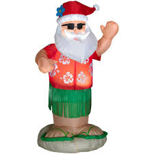 home accents 6 ft animated airblown santa
