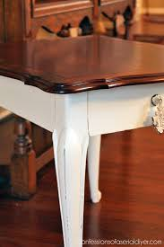 stained table top painted legs paint a table keep the beautiful wood too confessions of a