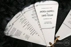 petal fan wedding programs petal fan wedding programs ceremony reception stationery