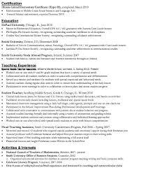 a good teacher resume sample starengineering