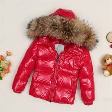 black friday winter jackets discount children raccoon fur collar jacket kids white down jacket