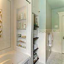 small bathroom ideas storage simple small bathroom with built in storage unit and white bath