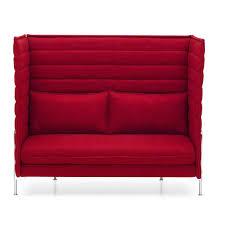 sofa rot alcove highback 2 seater sofa vitra ambientedirect