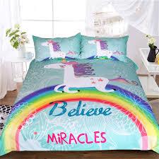 Unicorn Bed Set Beddingoutlet Unicorn Bedding Set Believe Miracles Single