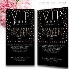 sweet 16 birthday sweet 16 invites 16th by customprintablesny