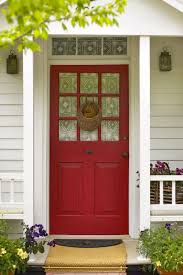 wood glass front doors decorations cheery dutch house with red glass front door and