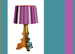 Kartell Bourgie Table Lamp Modern Interior Design Bourgie Metallic Multi Color Lamp From Kartell