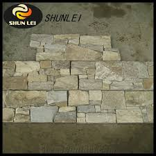Stacked Stone Veneer Backsplash by Wooden Vein With Rough Surface Wall Stone Cladding Prices