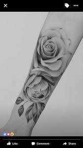 realistic rose tattoo black and grey ink pinterest realistic
