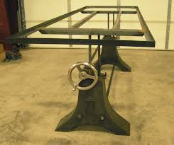 Vintage Industrial Crank Table Designs Crank Up Your Decor Http - Metal table base designs