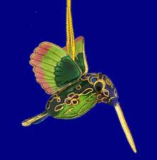 cloisonne hummingbird ornament gift green