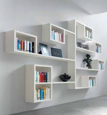 White Bookcase Ideas Furniture Wonderful Wall Mount White Bookcase Shelves Design