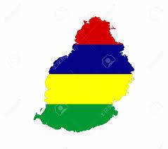 Mauritius Flag Mauritius Country Flag Map Shape National Symbol Stock Photo