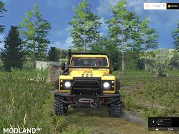 land rover jungle land rover defender dakar v 2 0 mod for farming simulator 2015