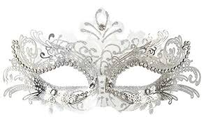 white mardi gras mask coxeer women masquerade mask mardi gras party mask