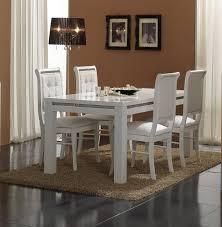 chaise pour chaise de salle à manger blanche lot de 2 perla buffet bahut