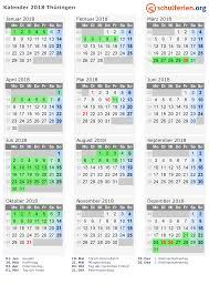 Kalender 2018 Hamburg Kostenlos Drucken Kalender 2018 Ferien Thüringen Feiertage