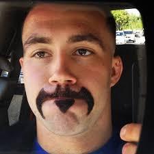 Handlebar Mustache Meme - the upside down handlebar moustache eyebrows funny sons