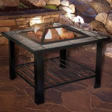 Firepit Screen Pit Set Wood Burning Pit Includes Screen Cover And Log