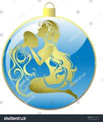 ornaments zodiac sign aquarius stock vector