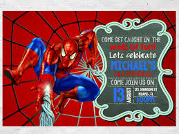 Invitation Card 7th Birthday Boy Spiderman Birthday Invitations Lilbibby Com