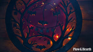 Lighted Halloween Trees 3d Lighted Halloween Jack O Lantern Recycled Oil Drum Lid Wall Art