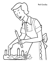 christmas candles coloring pages christmas clip art library