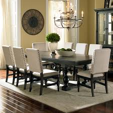 Dining Rooms Sets Steve Silver Leona 9 Piece Dining Room Set In Dark Hand Rubbed