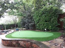 Putting Green In Backyard by Before U0026 After Putting Green In Southlake Tx Synthetic Greenscapes