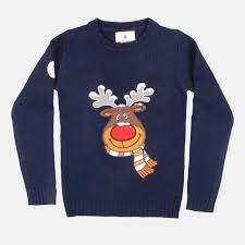 rudolph sweater navy rudolph sweater from funky sweaters