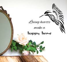 happy home decor family wall decals wall quotes loving hearts make a happy home