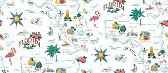 traditional wallpaper fabric map shop by color florida