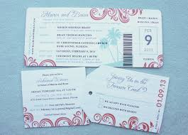 coral u0026 turquoise swirls u0026 palm trees boarding pass wedding