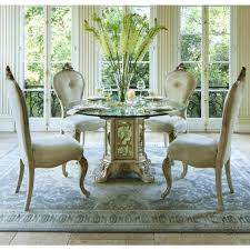 Michael Amini Dining Room Furniture Michael Amini Dining Room Set Glass Top Table In Chagne