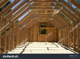 roof truss system over garage house stock photo 16535899 the roof truss system over a garage for a house under construction