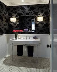 Black And White Bathrooms Ideas by Iron Roll Shower Grey Tiles Black White Bathroom Tile Clear Glass