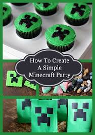 minecraft cupcakes how to throw a simple minecraft birthday party the kitchen magpie