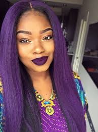black hairstyles purple we re here for a kinky straight in unexpected colors hot hair